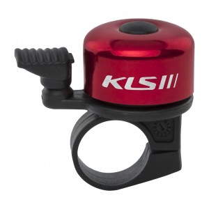 Bicyklový Zvonček KLS BANG 10 - červený (OEM balenie)